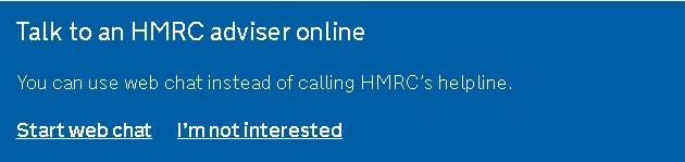 hmrc online chat