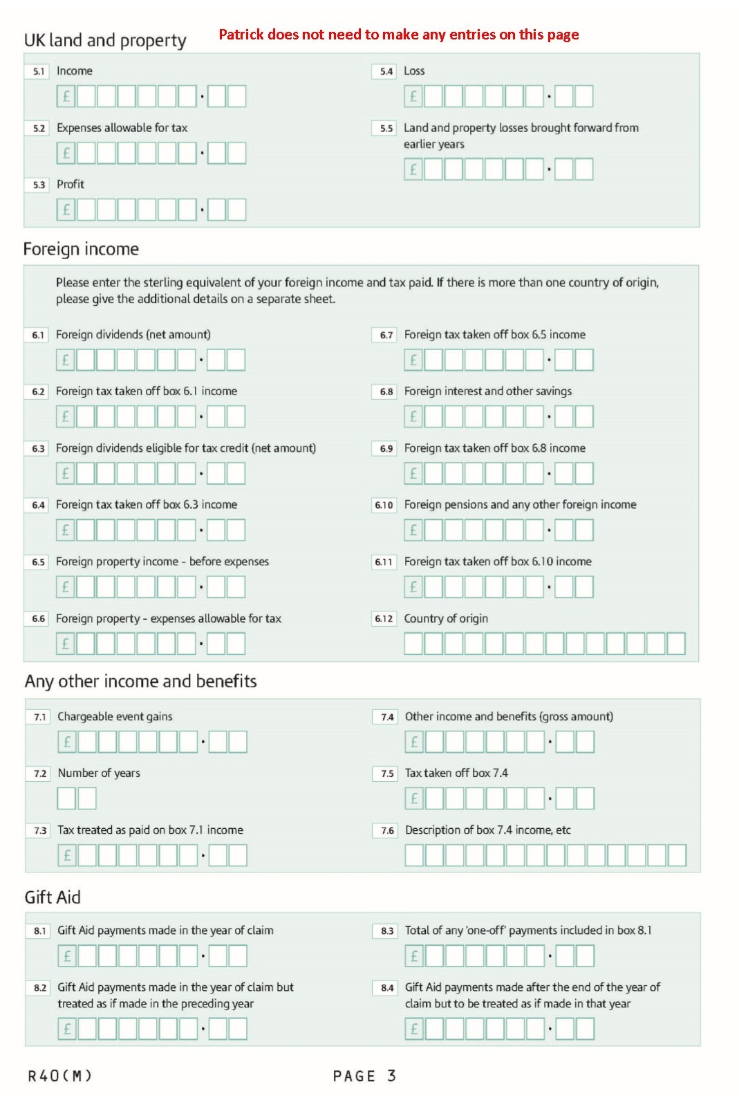 Income Tax Relief: Income Tax Relief P87
