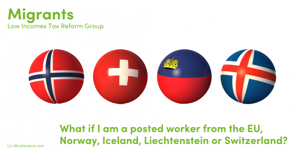 Illustration of balls symbolising Norway, Iceland, Liechtenstein and Switzerland