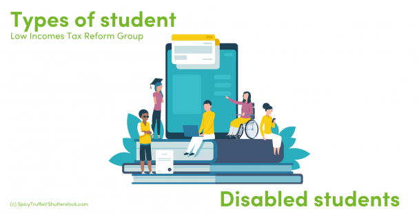 Illustration of students with disabilities