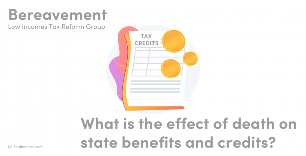 Illustration of a tax credits documents and some coins