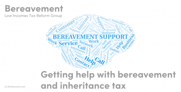 Illustration of a word cloud about bereavement