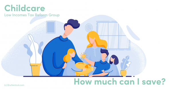 Illustration of a family putting a coin into a piggy bank