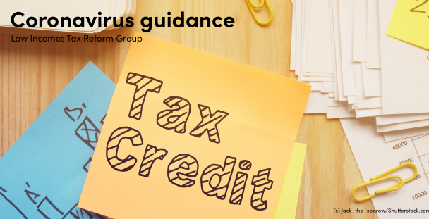 Image of the words tax credit on a sticky note