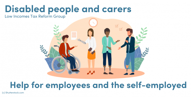 Illustration of a group of disabled people