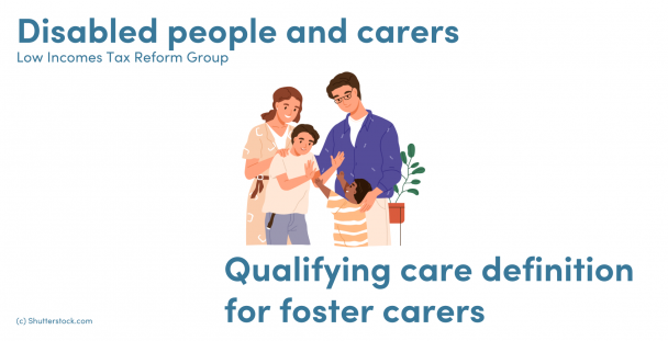 Illustration of a family with a foster child