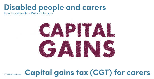 Illustration of the words capital gains