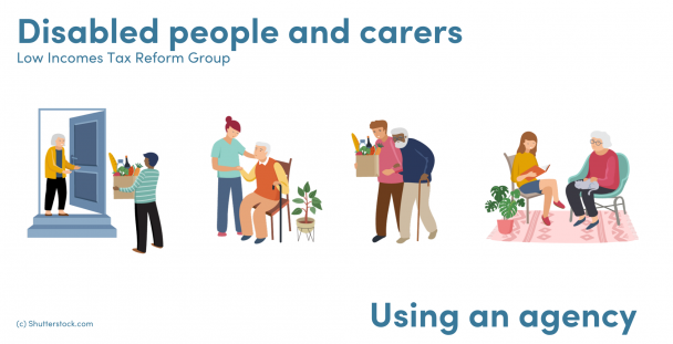 Illustration of people helping others