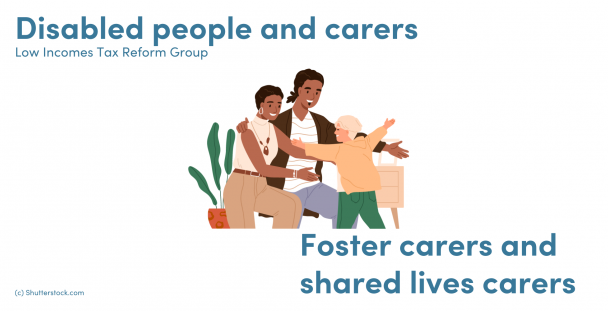 Illustration of a couple and foster child