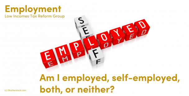 Image of the words self and employed