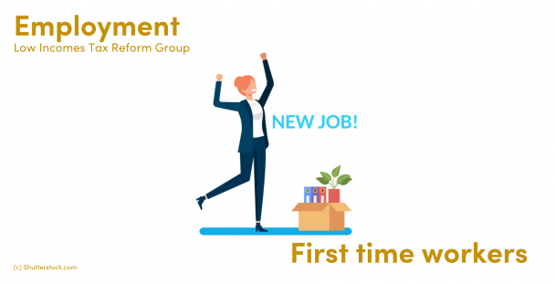 Illustration of a person celebrating a new job