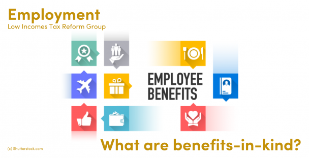 Illustration of employee benefits such as meals, transport and gifts