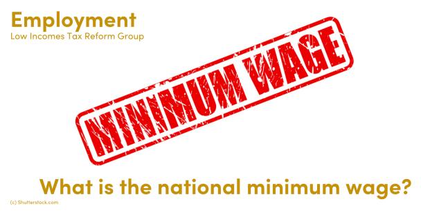 Illustration of the words minimum wage