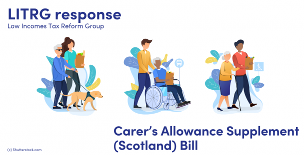 Illustration of carers helping people