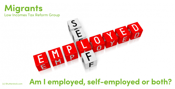Illustration of the words self and employed