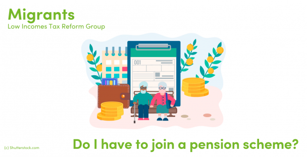 Illustration of pensioners surrounded by coins