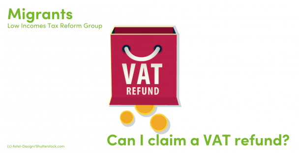Illustration of a bag with VAT refund written on it