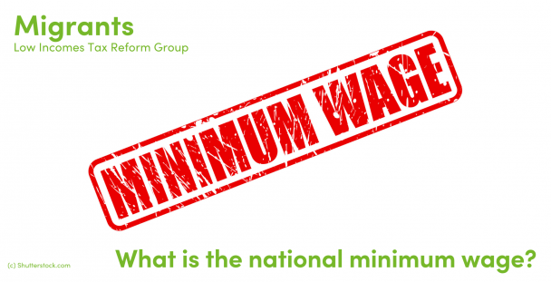 Illustration of the words minimum wage