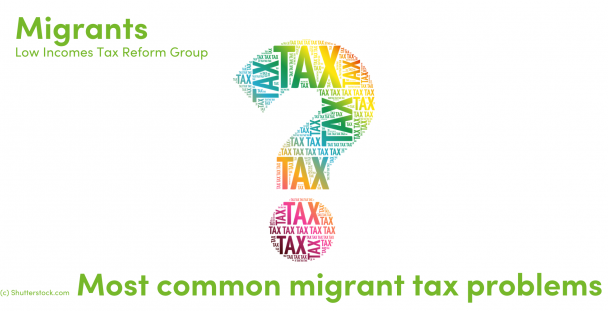 Illustration of a question mark made up of the word tax