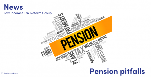 Illustration of a word cloud about the subject of pensions