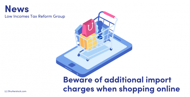 Illustration of a shopping trolley on top of a mobile phone