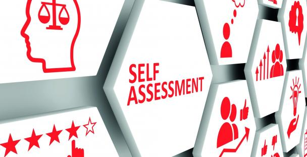 Illustration of Self Assessment with various icons
