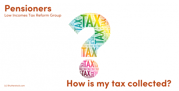 Illustration of a question mark and the word taxes