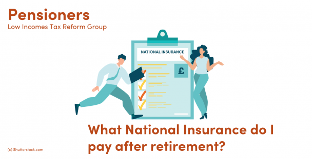 Image of a man and woman next to a clipboard with national insurance written on it