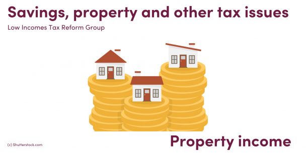 Illustration of houses on top of piles of coins