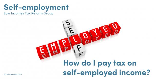 Illustration of the words self-employed