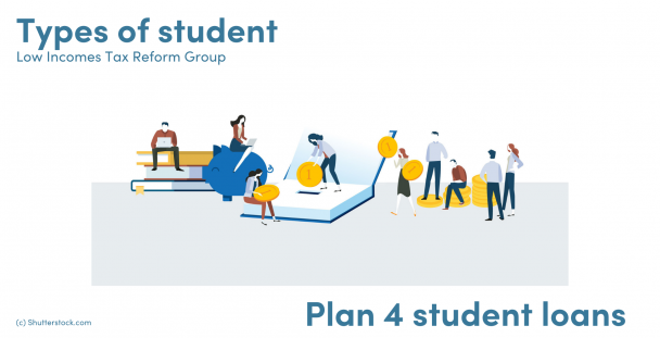 Illustration of students books and money