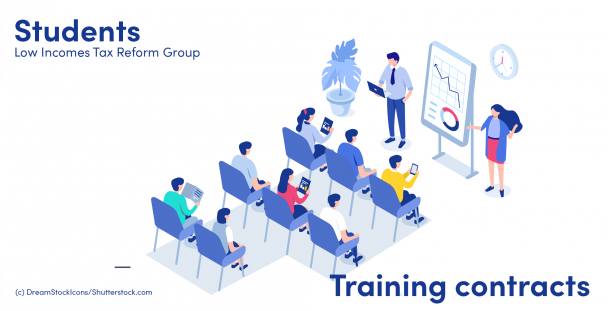 Illustration of students in a training room