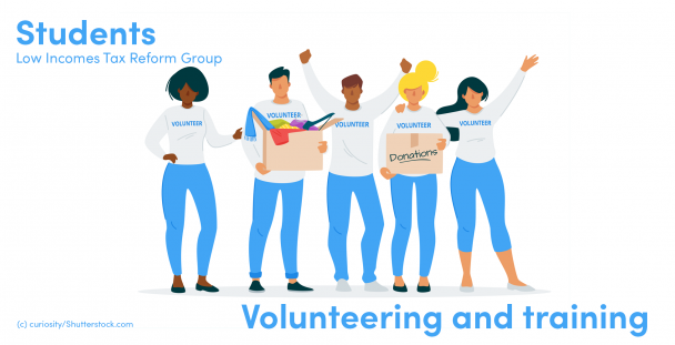 Illustration of volunteers