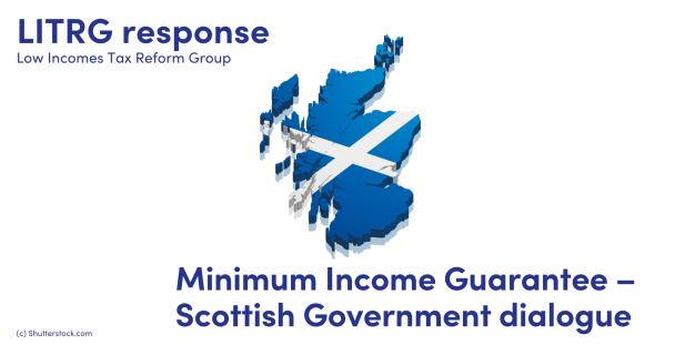 Illustration of the Scottish flag