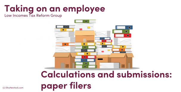Illustration of papers, folders and boxes