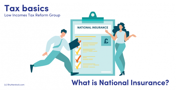 Man and woman next to a clipboard with a National Insurance document