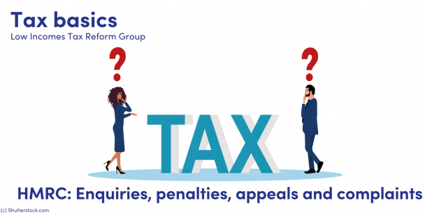 Illustration of a man and woman next to the word tax with question marks over their heads