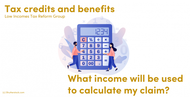 Illustration of people next to a calculator
