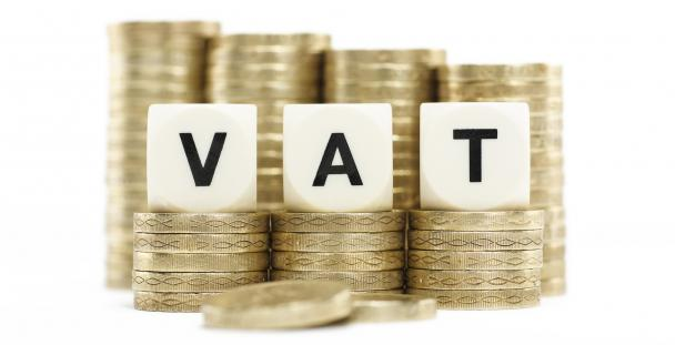 Image of the letters VAT surrounded by pound coins
