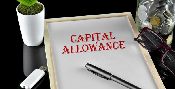 Image of a board displaying the words capital allowance