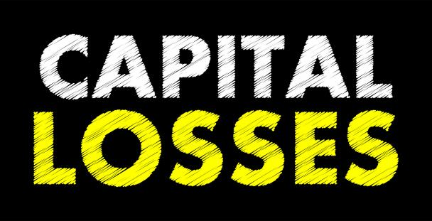 Image of the words capital losses