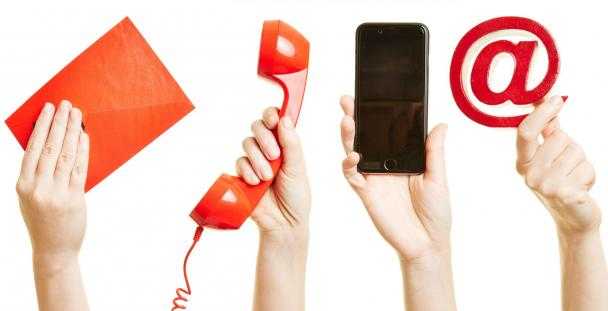 communication letter telephone email