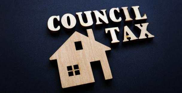 Image displaying a house and the words council tax