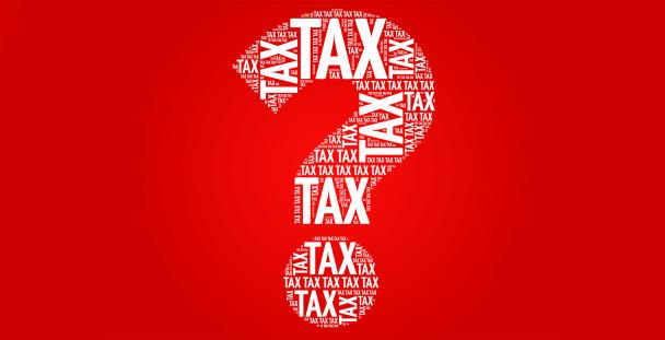Illustration of a question mark with the word tax