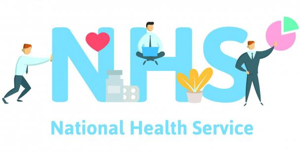 Illustration of the NHS letters with National Health Service written underneath