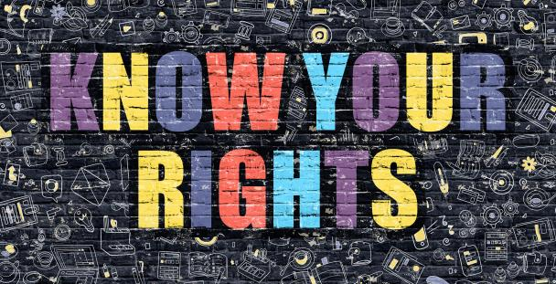 Illustration of the words know your rights