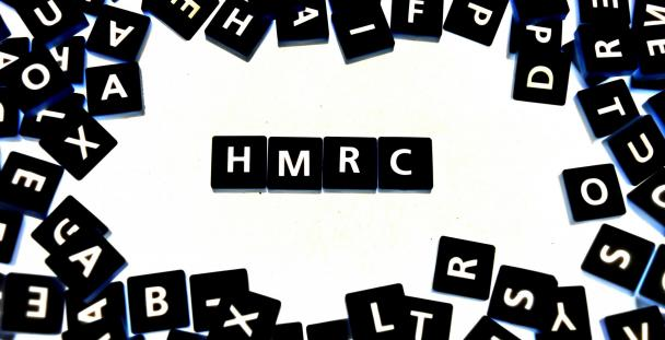 Image showing letter tiles spelling HMRC