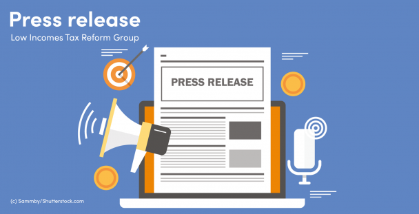 Illustration of a press release on a computer