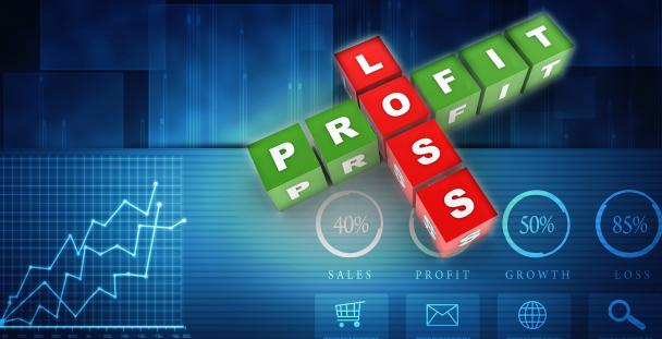 Image of blocks spelling profit and loss
