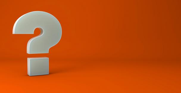 Image of a question mark on an orange background